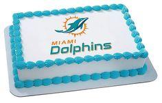 NFL Miami Dolphins Football Team Logo EDIBLE by CakesPopsCupcakes, $7.95