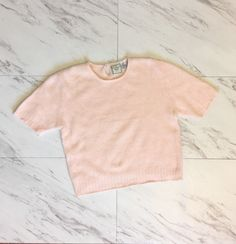 A personal favorite from my Etsy shop https://www.etsy.com/listing/266709613/pink-knit-angora-sweater-crop-top