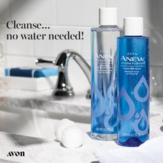 Anew Hydra Fusion Cleansing Micellar Water - gently yet effectively lifts dirt, oil and makeup while boosting skin's hydration. Micelles are tiny round cleansing molecules, that attract dirt & oil like a magnet to lift impurities from skin. Micellar Water, Avon Online, Avon Representative, Face Wash, Makeup Remover, Medium, Cleanse, Skin Care, Make Up