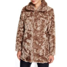 Wallis Petite mocha midi fur coat- at Debenhams.com