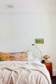 Romantic watercolor pillow