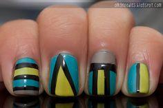 love abstract nails.