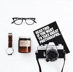 Minimal Essentials - flatlay camera watch glasses | BAYSE ACTIVEWEAR BASICS…