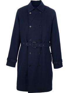 Dark blue belted trench coat...delicious. Designer Clothes For Men 040af633c