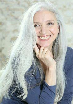 silver beauty. on Pinterest | Sarah Harris, Gray Hair and Grey Hair