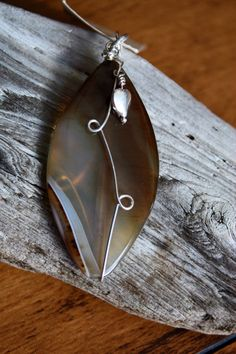 Hand Crafted Agate Sterling Silver Pendant by CreativeWorkJewelry, $18.00