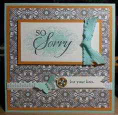 Card made with Stampin' Up! Afternoon Daydream Simply Scrappin' Kit & So Sorry stamp set.