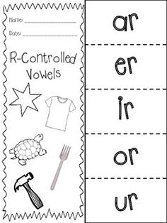 R-Controlled Vowels - Flap Book - FREE