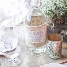 Add a little bit of vintage chic to your wedding with mercury glass