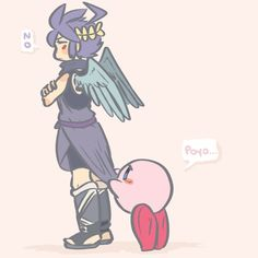 Dark Pit and Kirby