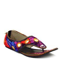 Indirang Floral Purple Flat Sandals, http://www.snapdeal.com/product/indirang-floral-purple-flat-sandals/1672264976