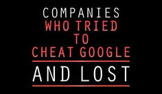 #Webdesign Its Not Worth It! 11 Companies Who Tried to Cheat Google - And Lost!https://t.co/MrgF1SVYQ4#SEO http://pic.twitter.com/6rV20Cbwrz  Re   Web design 4444 (@Webdesign4444) September 30 2016