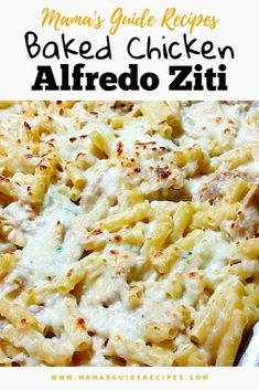 Five Approaches To Economize Transforming Your Kitchen Area Baked Chicken Alfredo Ziti Is Quick And Easy To Prepare. Make This Recipe This Week And Its Going To Be A Sure Hit With Your Family. Leftover Rotisserie Chicken, Leftover Chicken Recipes, Leftovers Recipes, Baked Chicken Recipes, Baked Chicken Ziti Alfredo, Alfredo Pasta Bake, Chicken Pasta Bake, Recipe Using Leftover Chicken Breast, Recipes Dinner