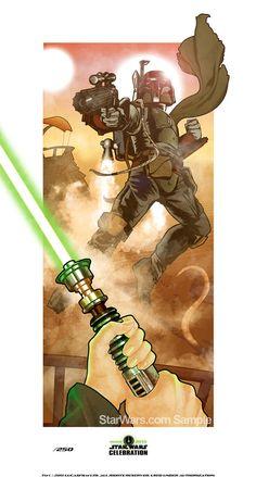 Star Wars Celebration Art Boba Fett