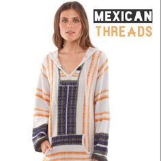 Baja Hoodies & Drug Rugs for Men & Women. Shop The Largest Selection Mexican Baja Hoodies by Mexican Threads™ Sweater Jacket, Men Sweater, Baja Hoodie, Sweater Weather, Boho Fashion, Hoodies, My Style, Sweaters, Jackets