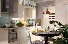 Close Up Of A Wooden White Kitchen With A Grey Stractor Fan, A Cooper · Kitchen  PlannerIkea ...