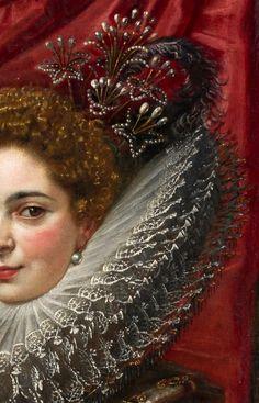 """Marchesa Brigida Spinola Doria"" (detail), by Peter Paul Rubens (Flemish, Peter Paul Rubens, Marchesa, Fashion History, Fashion Art, Europe Fashion, Rubens Paintings, Pierre Paul, Baroque Art, Detailed Paintings"
