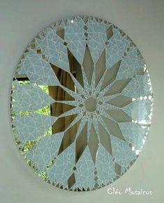 Mandala em Mosaico (Love this idea!