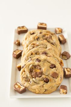 Snickers Chocolate Chip Cookies - Cooking Classy