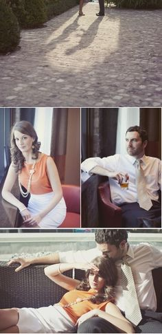 Engagement Pictures. I like the pose at the end - the way she is draped over his leg and his kiss on the top of her head. Super cute.