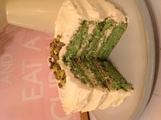 Pistachio and lemon layer cake #baking