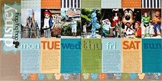 Disney scrapbook ideas  | Great Disney scrapbooking ideas. This would be a great first layout ...