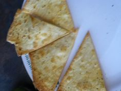 Home made chips  - tortillas - olive oil - seasoning any kind - mix olive oil and spices - then put it on the tortilla then cut however you like and bake for 10 min at 350 degrees F
