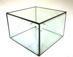 Glass Display Box Glass Bevel Display Box by shopworksofglass, $95.00