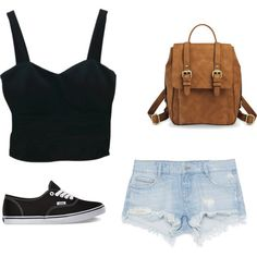 Black is my color by xleahnoelx on Polyvore featuring Zara and Vans