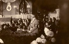 Hitler at the 1933 Reich Party Rally in Nuremberg.