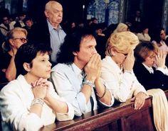 Maria Rita, Roberto Carlos e Hebe Camargo em missa na igreja Nossa Senhora do Brasil, em São Paulo