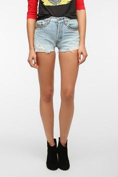 Urban Renewal Destroyed Studded Short OoOnly getting!!
