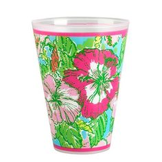 Amazon.com - Lilly Pulitzer Tumblers (Set of 8), Pink Colony -