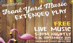 QPAC's famous Front Yard Music will now be playing every night from 5-8pm. Click the picture for more info.