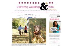 Lucas and Christina's Winston-Salem engagement session with their dog, Bruno, at Old Salem featured on Everything Weddings and More | Images ©2013 Glessner Photography | Hair and Makeup by Carla White