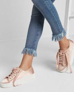 Satin Platform Sneaker