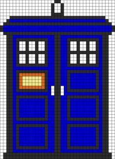 TARDIS Perler Bead Pattern / Bead Sprite.