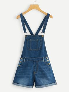 SHEIN offers Pocket Detail Faded Wash Denim Overalls & more to fit your fashionable needs. Skirts For Sale, Denim Overalls, Ripped Skinny Jeans, Pocket Detail, Lingerie Sleepwear, Skirt Outfits, Overall Shorts, Fashion News, 80s Fashion