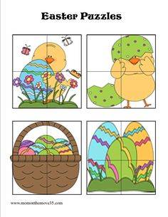 Looking for great FREE Easter Learning activities? Print these FREE Easter printables and keep your kids learning and busy for hours! Easter Activities For Preschool, Easter Crafts For Kids, Easter Puzzles, Puzzles For Kids, Easter Printables, Preschool Printables, Business For Kids, In Kindergarten, Holiday Crafts