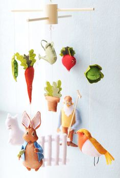 This is so cute but I would never pay that much. Seriously $139??Peter Rabbit Mobile ($139) and 19 More Cool Mobiles From Etsy