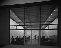 Ludwig Mies van der Rohe (German-American, 1886-1969) | Robert F. Carr Memorial Chapel of St. Savior (colloquially known as The God Box) | Illinois Institute of Techology (IIT) | Chicago, Ill | 1949-1952 The Robert F. Carr Memorial Chapel at IIT,...