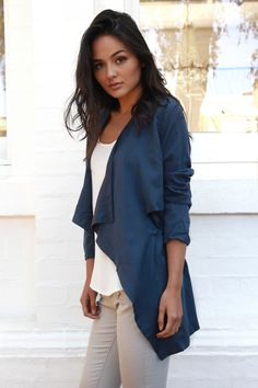 Set in Motion Jacket Navy - Madison Square Bell Sleeve Top, Navy, How To Wear, Jackets, Blue, Madison Square, Shopping, Collection, Tops