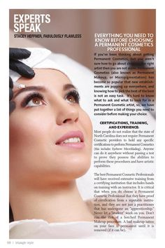 Microblading Eyebrows, Permanent Makeup, Durham, Eyeliner, Lashes, Triangle, Campaign, Content, Magazine