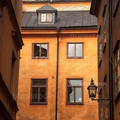 Low angle view of buildings, Gamla Stan, Stockholm, Sweden (Purestock images)
