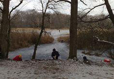 Schaatsen op het Lonnekermeer, Enschede