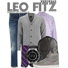 Inspired by Iain DeCaestecker as Leopold Fitz on Marvel's Agents of S. Tv Show Outfits, Fandom Outfits, Fandom Fashion, Geek Fashion, Marvel Clothes, Character Inspired Outfits, Themed Outfits, Geek Chic, Disney Outfits