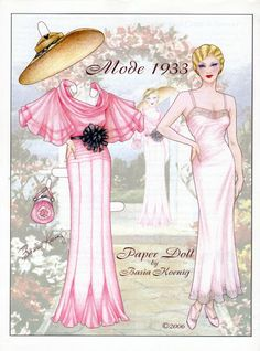 MODE 1933 Artist Basia Koenig from Various Magazine Paper Dolls