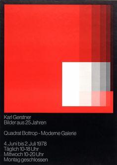 """calmack: """"Karl Gerstner, Bilder aus 25 Jahren (1978) """""""