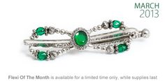 Another past Lilla Rose flexi clip is now back in my online store! http://lillarose.biz/rrobinson  Elegant Emerald Dream - is lovely with a stone set of emerald green surrounded with a classy celtic frame. The adorning arrangement fancies stylish etched metal and green fire-polished beads.