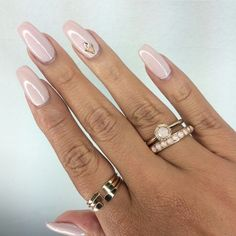 Light Pink Square Tip Acrylic Nails